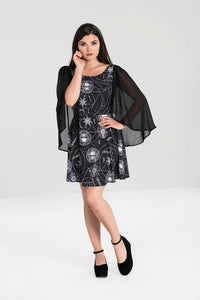 Lucille Gothic Bat Wing Caped Dress
