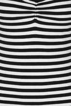 Load image into Gallery viewer, Warlock Black and White Striped Top