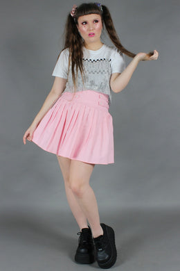 My Sweetheart Pleated Pink Skirt