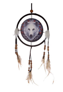 Lisa Parker Guardian of the Fall Wolf Dreamcatcher