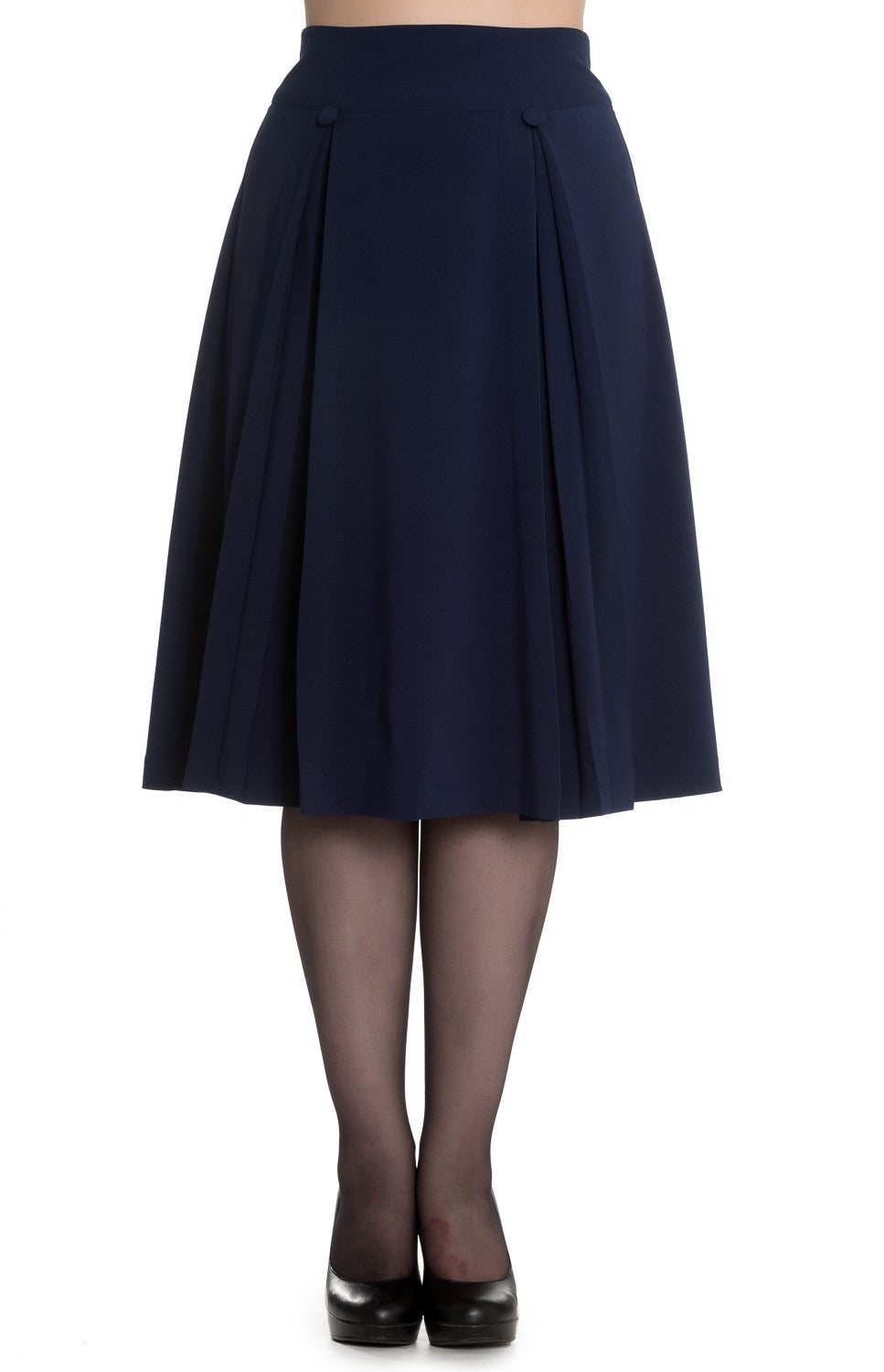 Kennedy pleated detail skirt Navy
