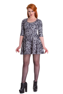 Malice Skull Print Stretch Dress