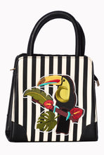 Load image into Gallery viewer, Toucan Tropical Stripe Bag