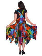 Load image into Gallery viewer, Colourful Patchwork pixie hem Dress