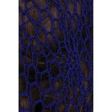 Load image into Gallery viewer, 1940s Style Crocheted Snood Blue