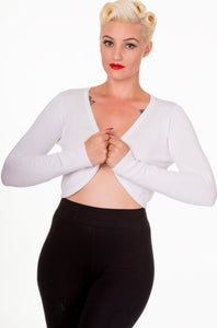 Flickers Long Sleeve Bolero White