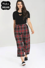 Load image into Gallery viewer, Red and Black Tartan Culottes Made in the Uk