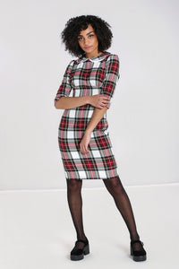 Doralee Stewart Tartan pencil dress