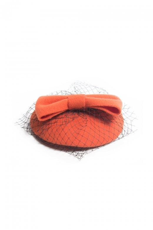 Bonny Bow Mini Hat Fascinator Orange