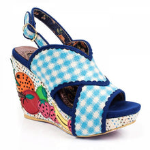 Load image into Gallery viewer, Irregular Choice Bahama Mama Wedges SALE WAS £125 NOW £49