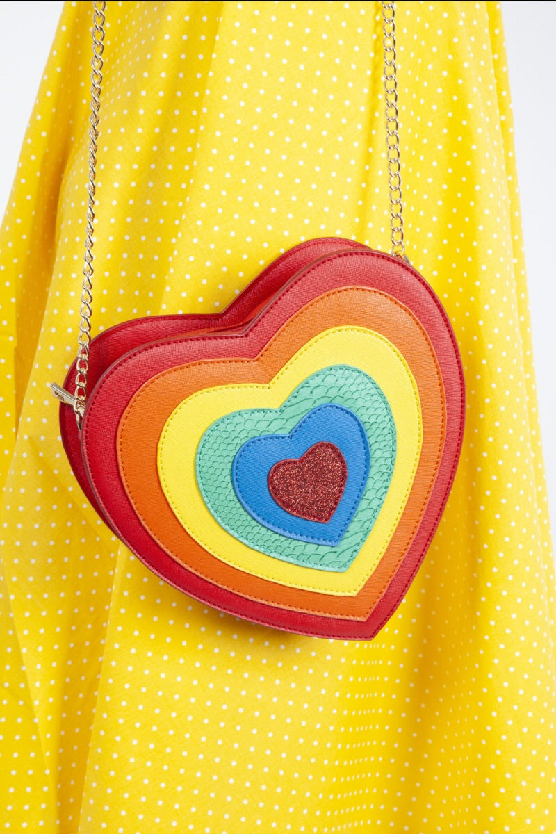 Rainbow Heart Pride Bag