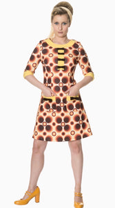 Retro Circle 60's Mini Dress