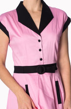 Load image into Gallery viewer, Grease Pink Ladies Inspired American Diner Dress