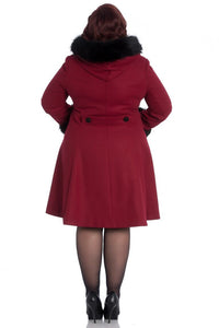 Sherwood Coat (Black/Red)  WAS £122 NOW £89