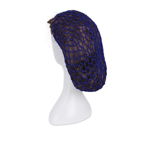 1940s Style Crocheted Snood Blue