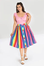 Load image into Gallery viewer, Hell Bunny Over the Rainbow Skirt