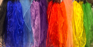 Chiffon head/neck scarf (various colours)