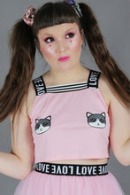 Load image into Gallery viewer, Cutesy Kitty Crop Top