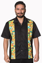 Load image into Gallery viewer, Men's Rockabilly 1950's inspired camper bowling shirt