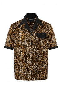 Keith 1950's Leopard Print Bowling Shirt