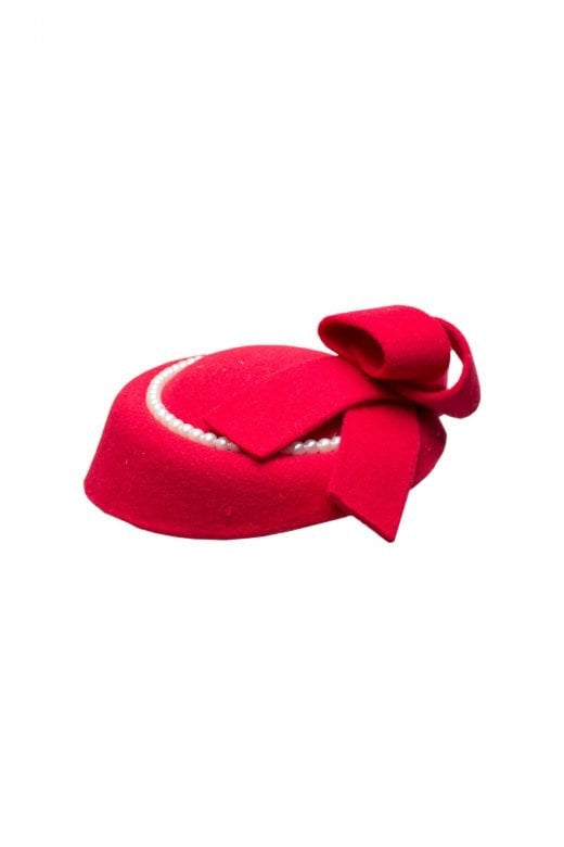 Collectif Joanne Red Pearl Hat