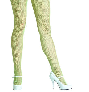 Plain Fishnet Tights (Neon Yellow)