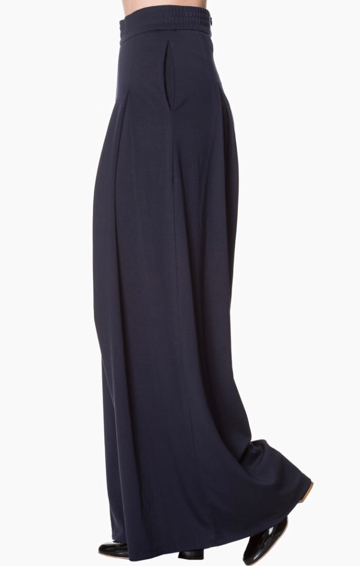 Indiana wide leg Navy Blue Trousers