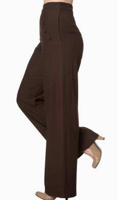 Full Moon Chocolate Brown High waisted Trousers