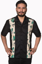 Load image into Gallery viewer, Men's Rockabilly 1950's inspired western bowling shirt