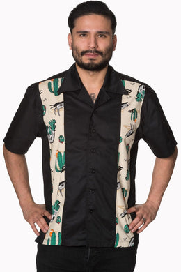 Men's Rockabilly 1950's inspired western bowling shirt