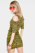 Load image into Gallery viewer, Neon Leopard Print bodycon Dress