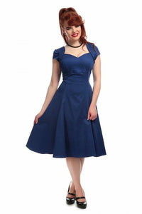 Regina 50s Plain Doll Dress Blue