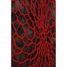 Load image into Gallery viewer, 1940s Style Crocheted Snood Red