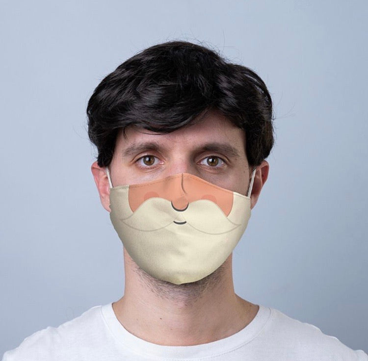 Santa's Beard reusable Mask Face Covering