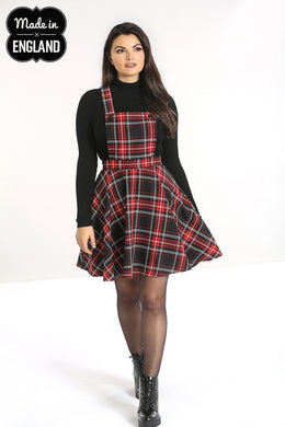 Islay Red and Black Tartan Pinafore