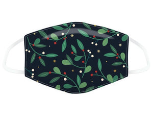 Mistletoe and Berries Christmas Mask Face Covering