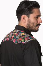 Load image into Gallery viewer, Men's Rockabilly 50's inspired Sugar Skull Shirt