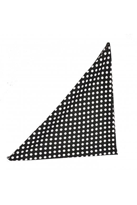 Chiffon Polka Dot Bandana Black and white