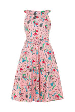 Load image into Gallery viewer, Leona retro Diner Dancers Swing Dress