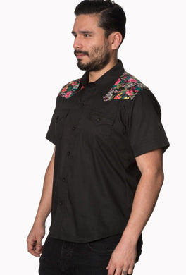 Men's Rockabilly 50's inspired Sugar Skull Shirt
