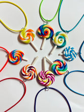 Load image into Gallery viewer, Swirl Lollipop Candy Necklace