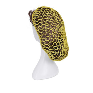 1940s Style Crocheted Snood Yellow