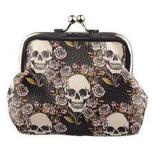 Load image into Gallery viewer, Floral Skull Coin Purse