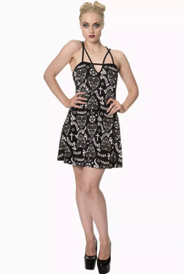Moonlight Silence Ouija mini Dress