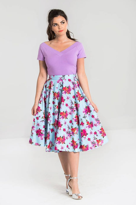 Alyssa painted floral 50's Full Circle Skirt