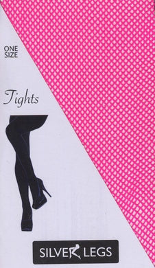Plain Fishnet Tights (Hot Pink)