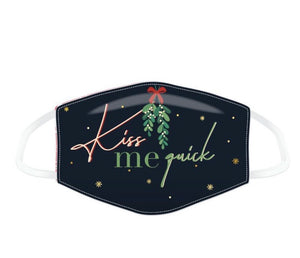 Kiss me quick mistletoe Christmas reusable Mask Face Covering
