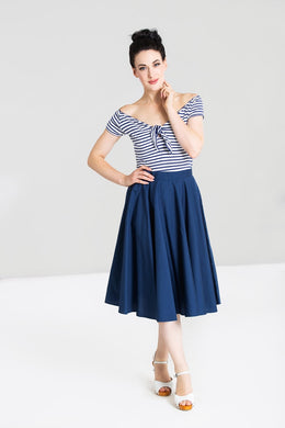Paula Full Circle 50s Skirt Navy