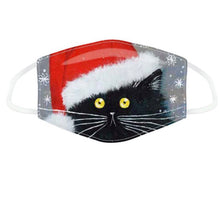 Load image into Gallery viewer, Kim Haskins Christmas Cats reusable Mask Face Covering