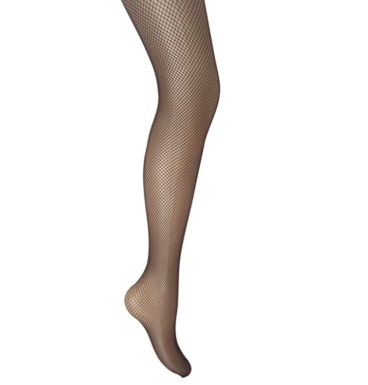 Plain Fishnet Tights (Chocolate Brown)